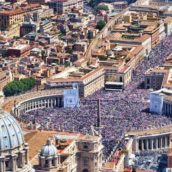 One million people gathered on St. Peter's square